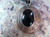 Black Stone Silver-Stone Pendant 925 Silver 5.8dwt